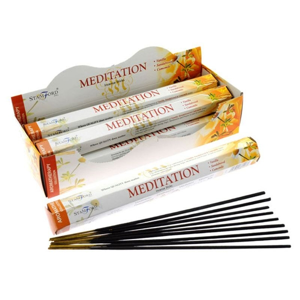 Meditation (Pack Of 6) Stamford Hex Incense Sticks