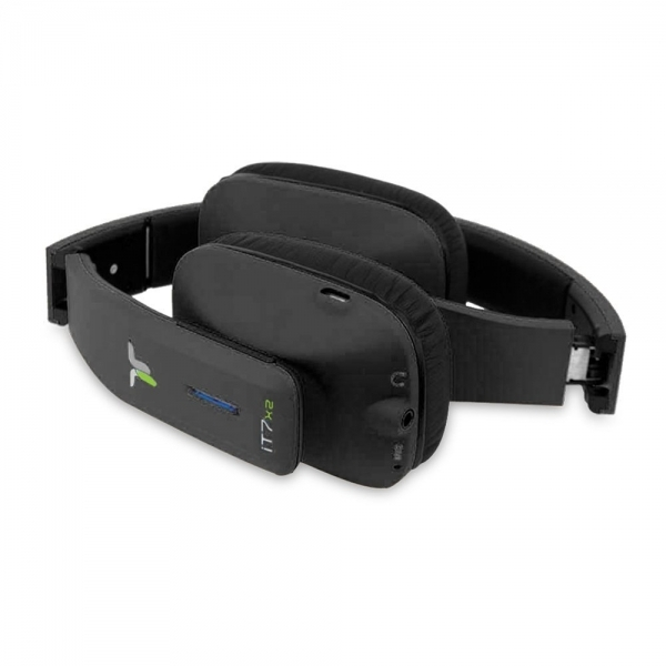 iT7x2 Foldable Wireless Bluetooth Headphones with Near Field Communication NFC Black - Image 3