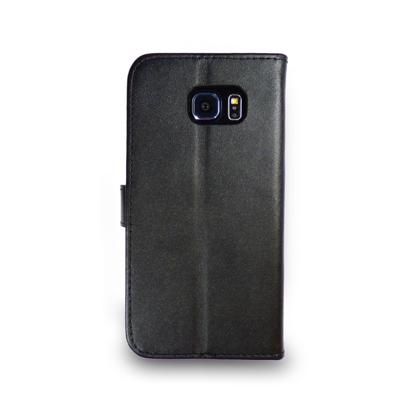 Samsung Galaxy S5 Leather Phone Case + Tempered Glass Screen Protector Flip Gadgitech - Image 2