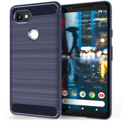 Google Pixel 2 XL Carbon Fibre Gel Case - Blue