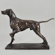 Pointer  by David Geenty Cold Cast Bronze Sculpture 26cm