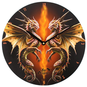 Desert Dragon Wall Clock by Anne Stokes