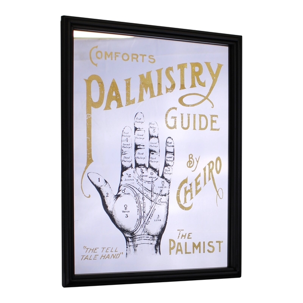 Retro Mirrored Wall Sign, Palmistry