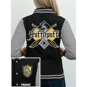 Harry Potter - House Hufflepuff Women's Small Varsity Jacket - Grey