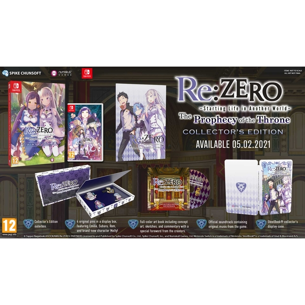 Re:ZERO Starting Life in Another World The Prophecy of the Throne Limited Edition Nintendo Switch Game