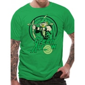 Green Arrow - All The Heroes Circle Unisex T-shirt Black Small