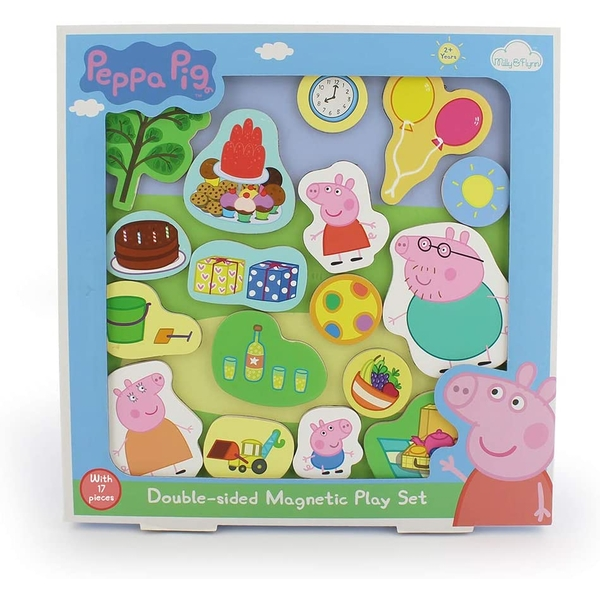 Peppa Pig Double Sided Magnetic Wooden Play Tray Set