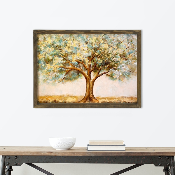 MZM768 Multicolor Decorative Framed MDF Painting