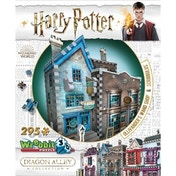 Ex-Display Harry Potter Hogwarts Diagon Alley Collection Ollivanders & Scribbulus Wrebbit 3D Jigsaw Puzzle Used - Like New