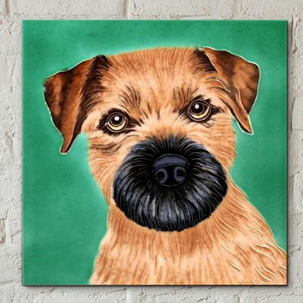 Tile 8x8 Border Terrier By C Varley Wall Art