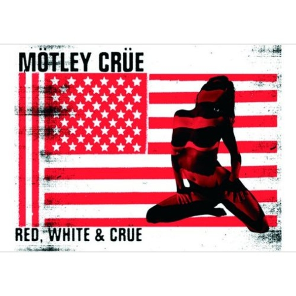 Motley Crue - Red & White Postcard
