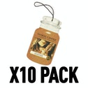 Leather (Pack Of 10) Yankee Candle Car Jar Air Freshener