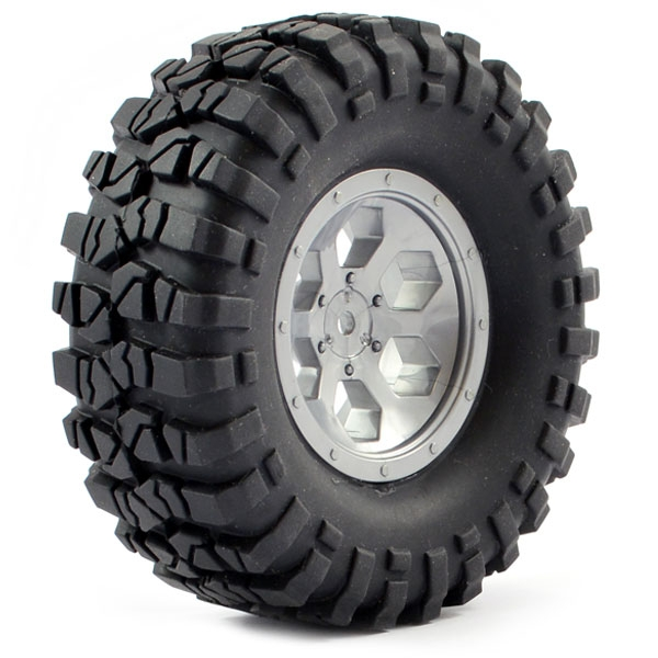 Ftx Outback Pre-Mounted 6Hex/Tyre (2) - Grey