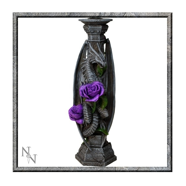 Anne Stokes Dragon Beauty Candle Stick