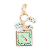 Hasbro - Monopoly Board With Card Charms Keychain - Multi-Colour