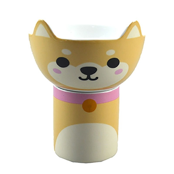 Children Shiba Inu Dog Porcelain Mug and Bowl Set