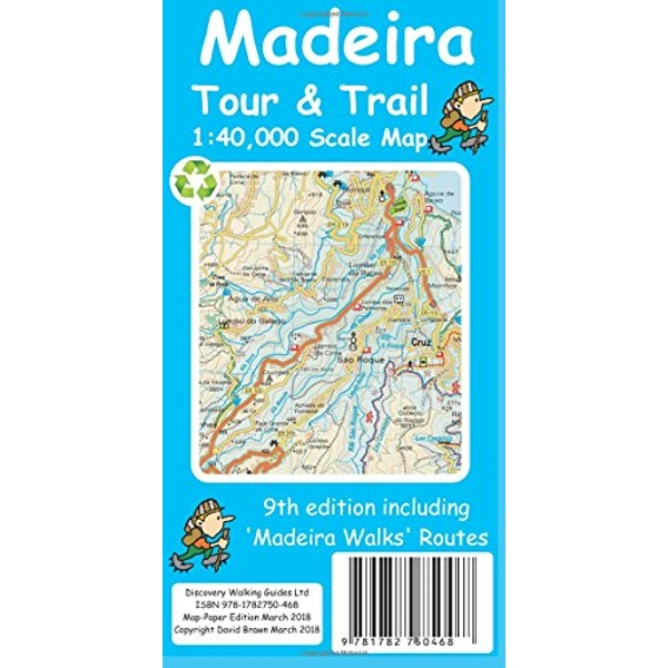 Madeira Tour & Trail Paper Map  Sheet map 2018