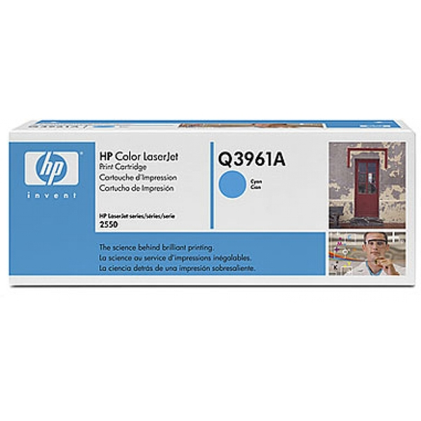 HP Q3961A (122A) Toner cyan, 4K pages @ 5% coverage - Image 2