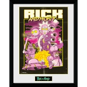 Rick and Morty Action Movie Framed Collector Print