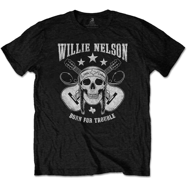 Willie Nelson - Skull Unisex Large T-Shirt - Black