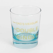 Printed Dad's Measure Whiskey Glass