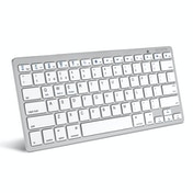 Caseflex UK Bluetooth Keyboard - White-Silver