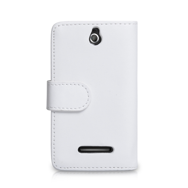 YouSave Accessories Sony Xperia E Leather-Effect Wallet Case - White - Image 2