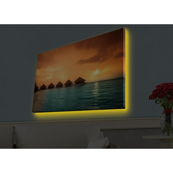 4570HDACT-035 Multicolor Decorative Led Lighted Canvas Painting