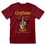 Hary Potter - Gryffindor Crest Team Quidditch Unisex Medium T-Shirt - Red
