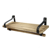 Rustic Wooden Shelf with Rail | M&W