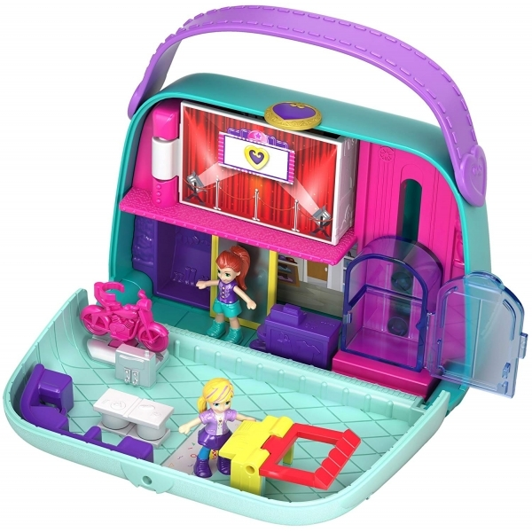 Ex-Display Polly Pocket World Shopping Mall Compact Play Set Used - Like New