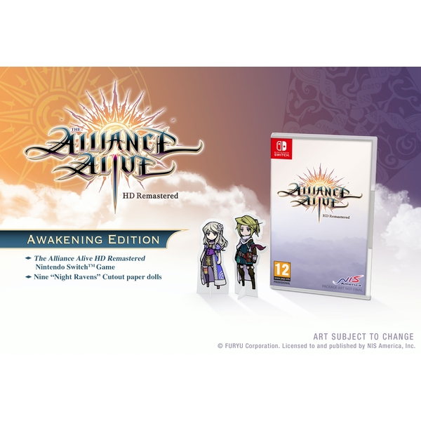 The Alliance Alive HD Remastered Awakening Edition Nintendo Switch Game - Image 1