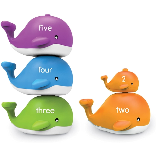 Learning Resources Snap & Learn Stacking Whales