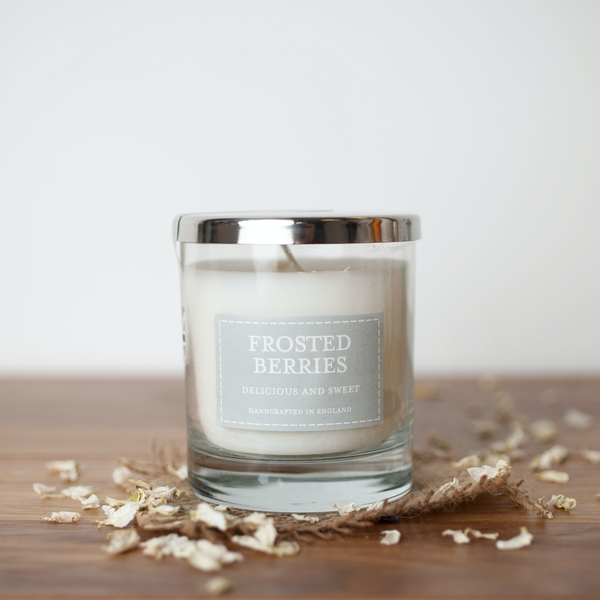 Frosted Berries (Pastel Collection) Glass Candle