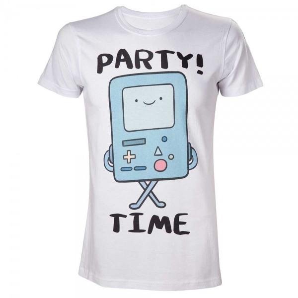 Adventure Time Beemo Party Time! Medium T-Shirt - White