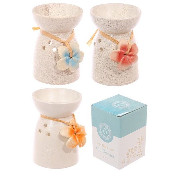 Ceramic Flower Oil Burner (1 Random Supplied)