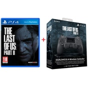 The Last of Us Part II PS4 Game + Limited Edition The Last of Us Part 2 DualShock 4 Wireless Controller