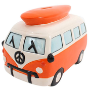 Large Orange Campervan Moneybox