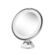 Circular LED Make Up Magnifying Mirror | 360° rotation | Suction Cup Base | M&W X7 Magnification New