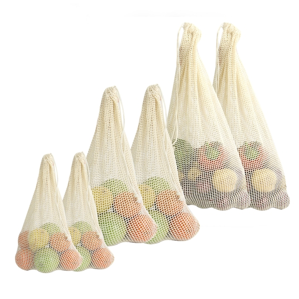 Organic Cotton Vegetable Bags - Set of 6 | M&W