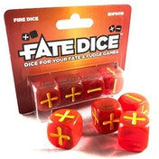 Fate Dice: 4 Fire Dice Pack