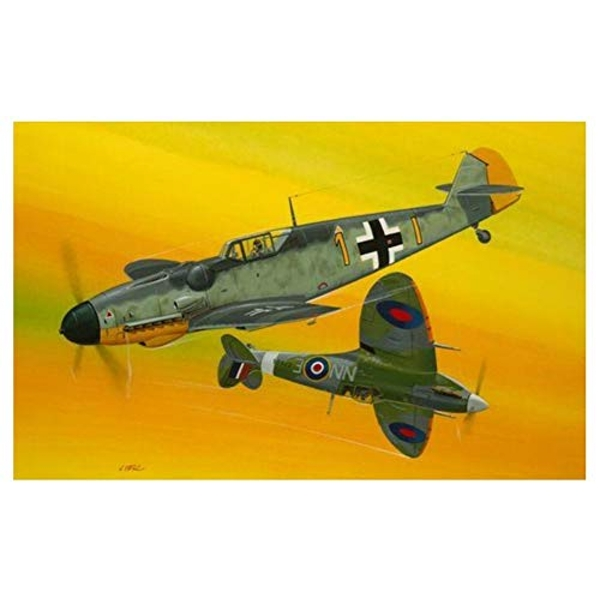 Combat Set Messerschmitt Bf109G-10 & Spitfire Mk.V Revell Model Kit