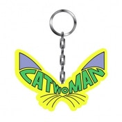 Catwoman Whiskers Thick Metal Keyring