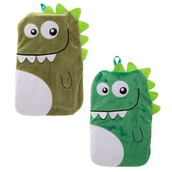 Plush Dinosaur Design 1 Litre Hot Water Bottle and Cover (1 Random Supplied)