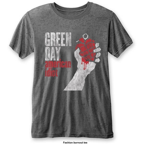 Green Day - American Idiot Vintage Unisex XX-Large T-Shirt - Grey