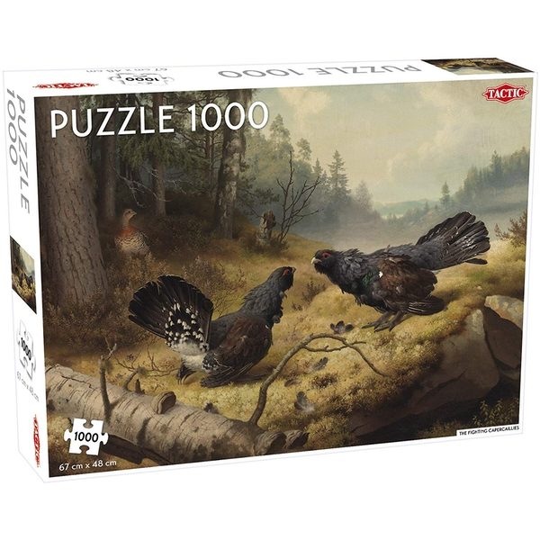 Fighting Capercailles 1000 Piece Jigsaw Puzzle