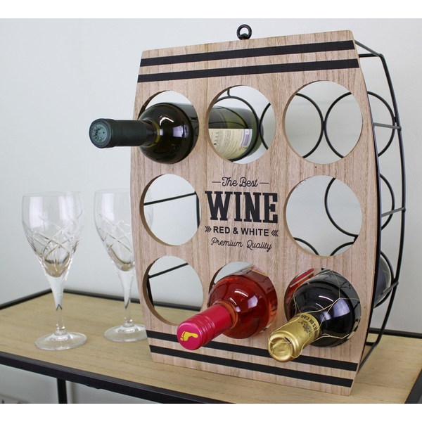 Eight Bottle Wine Rack, Barrel design