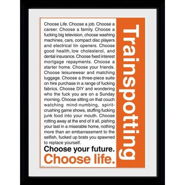 Trainspotting Quotes Collector Print