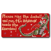 Please Ring The Doorbell And Run Smiley Magnet Pack Of 12