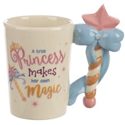 Cute Princess Wand Shaped Handle Ceramic Mug
